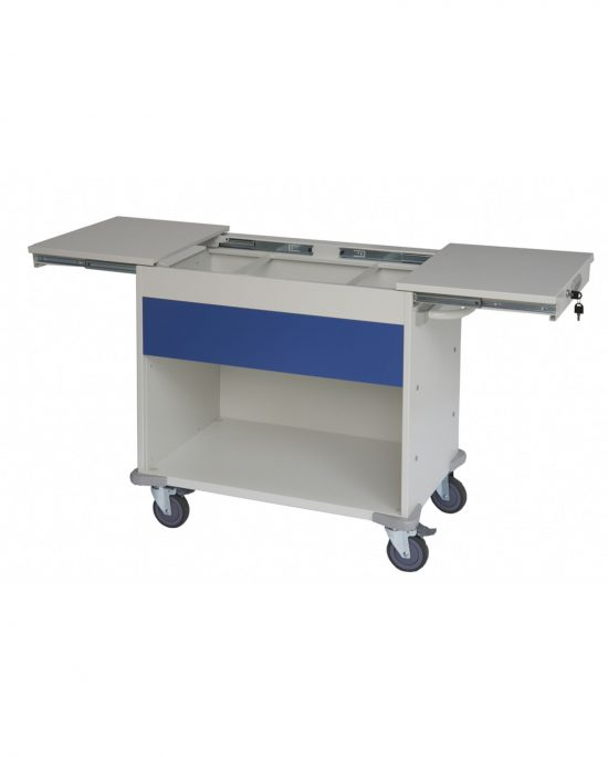 Lockable Medical Notes Trolley